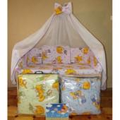 Детский постельный набор в кроватку 7 предметов и 8 предметов