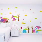 Милые интерьерные наклейки на стену для детской, 4 варианта