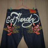 джинсы эксклюзивные W40L32 пояс 106см