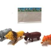 Дикие животные. Лев, тигр, носорог,бегемот.