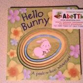 Книги для детей на английском языке Hello Bunny peek a boo