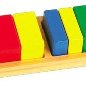 Вкладыши «Дроби. Квадрат», Мир деревянных игрушек Артикул: Д145