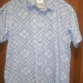 Фирменная джинсовая рубашка L