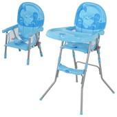Детский стульчик для кормления GL 217,голубой