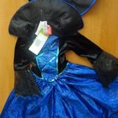 Шикарное платье паучихи на 5-6 лет, Tu. Карнавальный костюм.