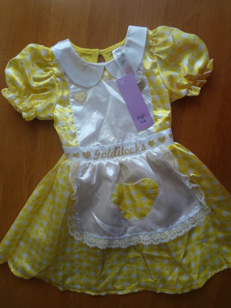 Платье златовласки на 3-4 года, f&f. карнавальный костюм фото №1