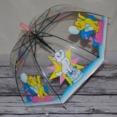 Прозрачный зонтик зонт детский для вашей малышни с кошечкой Мэри Мари Marie Аристократы грибочком