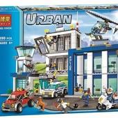 Конструктор Bela серия Urban 10424 Полицейская станция (аналог Lego City 60047)