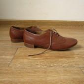 paul green р.36-37 броги оксфорди туфлі на шнурках шкіряні
