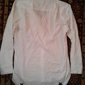 FSBN Стильная мужская рубашка с удлиненной спинкой,хлопок 48-50р