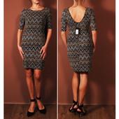 Нарядное платье с откровенной спинкой, декорированное блестящей нитью  DR42119