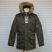 """Мужская зимняя удлиненная куртка - парка на холлофайбере Egret, модель """"Аляска"""""""