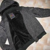 Курточка зимняя Jack & Omen с меховой подкладой.M-L.Супер качество.