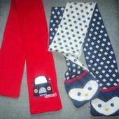 фирменные шарфы на 2-8 лет