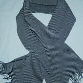 Новый фирменный шарф,черно-белая полоса