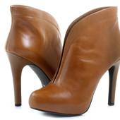 Jessica Simpson Ботильоны кожаные на шпильке рыжие коричневые оригинал р42