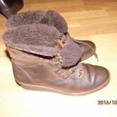 (№і087)зимние кожаные ботинки 37 р