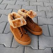 Зимние женские ботинки кеды Puma Riana