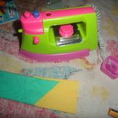 утюг игрушечный в пакете с тканью