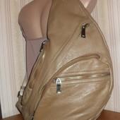 стильная сумка на одно плечо 100% кожа