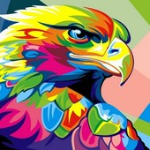Картина по номерам Turbo Радужный орел VK039