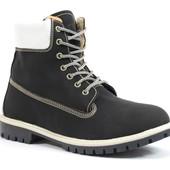 Зимние Мужские Ботинки Чёрные