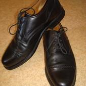 Туфли кожаные черные классические р.40-40.5 стелька 26.7см