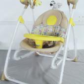 Колыбель-качели для новорожденных 3в1 BT-SC-0005, с пультом, желтая