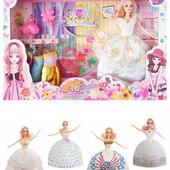 Кукла с набором одежды и аксессуаров, 4 вида, в кор.47,5*6,0*32,5см