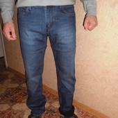 Мужские джинсы на флисе баталы (32,33,34,36,38,40).