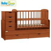 Детская кроватка-трансформер Baby Sleep - Angela dtp-s-b (4 цвета)
