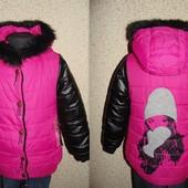 Удлинённая куртка  6-7л(116-122см)Мега выбор одежды и обуви