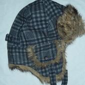 H&M подростковая шапка-ушанка,55 см,сток