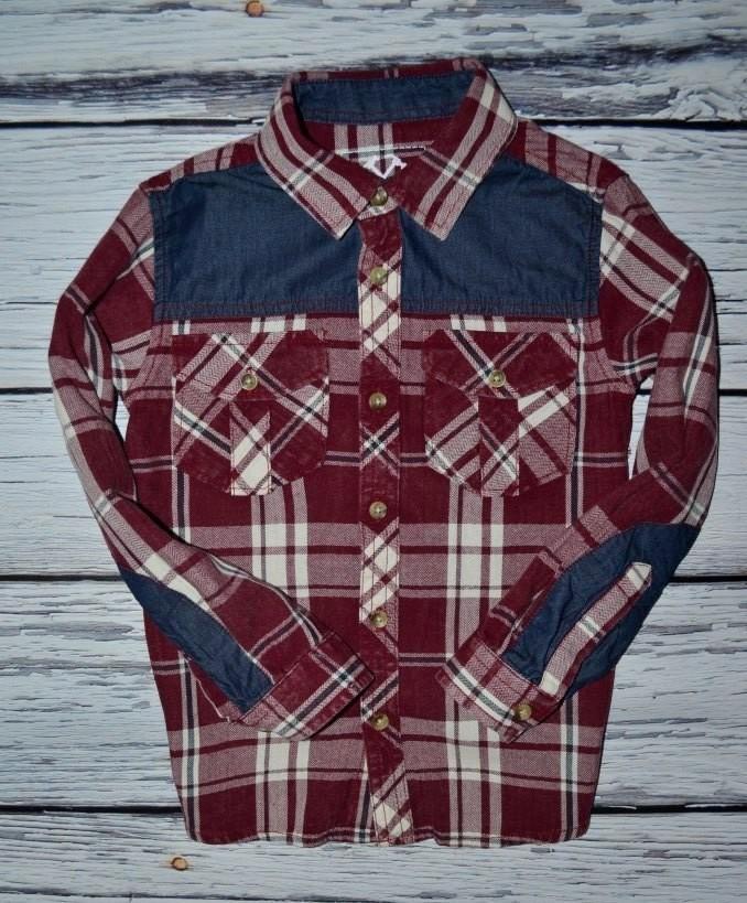 8 - 9 лет 134 см Rebel Ребел Очень крутая модная фирменная рубашка мальчику клетка фото №1