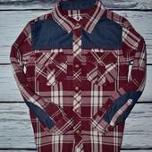 8 - 9 лет 134 см Rebel Ребел Очень крутая модная фирменная рубашка мальчику клетка
