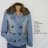 Утепленная джинсовая куртка Mаngo, ветровка, джинсовый пиджак, теплый, веченний, деми, осенний
