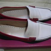 Фирменные Hotter (UK) кожаные туфли мокасины на 38,5 размер в новом состоянии