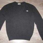 Lacoste мужской свитер.Оригинал. Шерсть