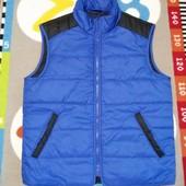 Крутая синяя жилетка от Time of Style, размер М