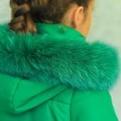 Зимняя куртка для девочки 122-140р