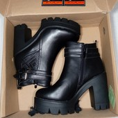 ботильоны ботинки сапожки на тракторной подошве р 38 от Vices