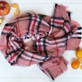 Теплый модный шарф-плед в клетку,2 расцветки.Акция.