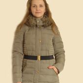 Пальто пуховик Only размер xs M беж