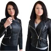 Женская демисезонная куртка косуха из эко-кожи