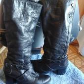 кожаные зимние сапоги Ellenka