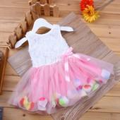 12-27 Детское нарядное платье Little Flower/ Одежда для девочки/ Праздничное платье/ платье