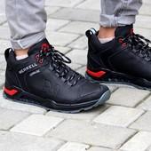 Зимние мужские ботинки Merrell из натуральной кожи ( внутри мех )