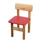 Детский стульчик деревянный цветной, Финекс (Красный)