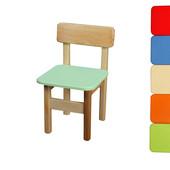 Детский стульчик деревянный цветной, Финекс (Салатовый)