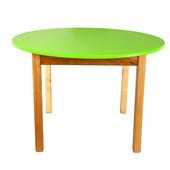 Детский деревянный столик с цветной круглой столешницей, Финекс (Салатовый)